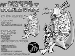 Bells & Whistles, Crackles & Pops – Synth Meet featuring Eat Static, Scanner, LMA and more..