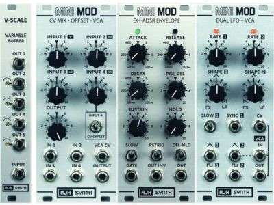 New AJH Synth MINIMOD modules now available in SILVER Panels