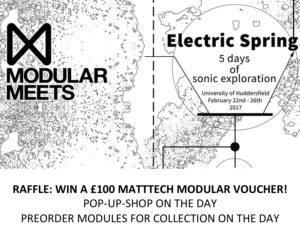 Huddersfield Modular Meet: Pop-up-shop & WIN a £100 MATTTECH MODULAR Voucher