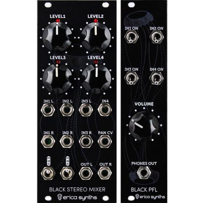 Erica Synths Black Stereo Mixer & PFL