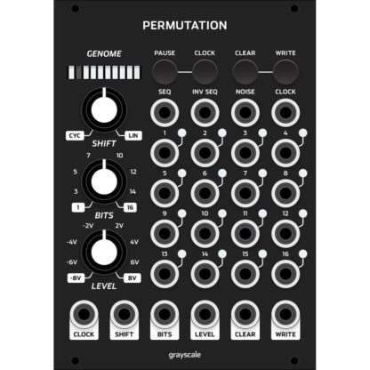 Grayscale Permutation 18hp Matte Black