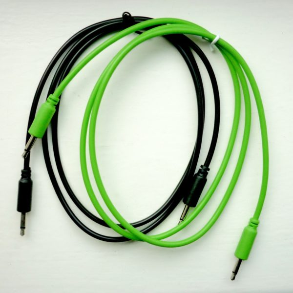 Eurorack Patch Cables GREEN BLACK (set of 5) 3