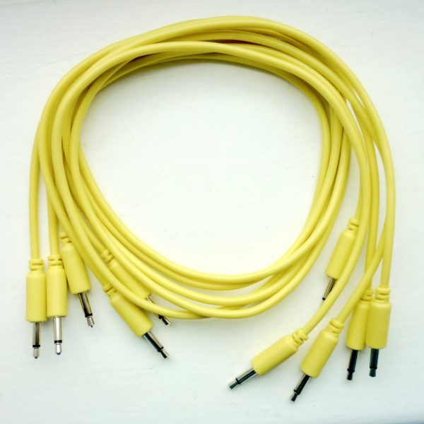 Eurorack Patch Cable YELLOW (set of 5) 2